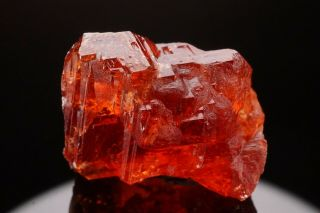 Historic Gem Spessartine Garnet Crystal Amelia,  Virginia - Ex.  Smithsonian