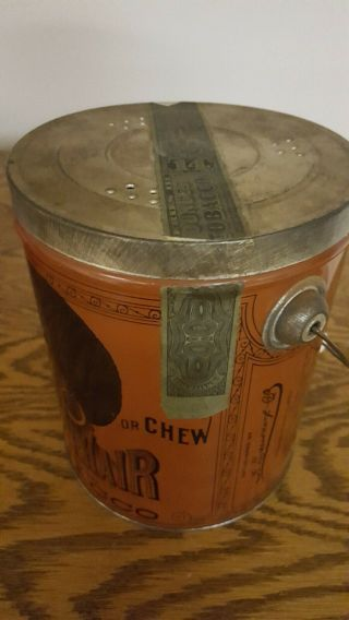 1941 Black Memorabilia Hair Tobacco Tin 2