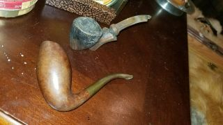 Two Estate Tobacco Pipes.  S Bang Denmark & Pipe - Dan Copenhagen