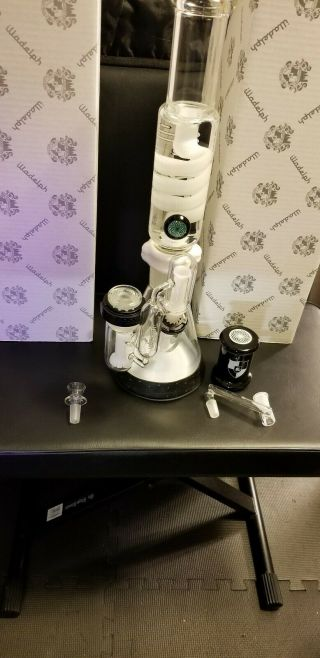 Real full size Illadelph Beaker,  Glycerin Coil,  Disc Ash Catcher & accessories 5