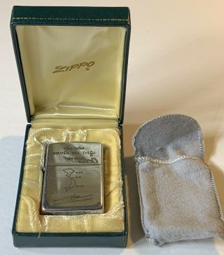 1968 Vietnam Zippo - President Nguyen Van Thieu Lighter In Presentation Case