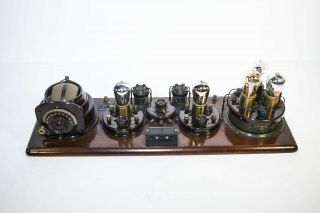 Atwater Kent Model 7 Breadboard Type 4066 With Five Brass - Based,  Tipped 01a