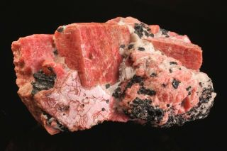 19th C.  Rhodonite Crystal Cluster Franklin,  Jersey - Ex.  Princeton