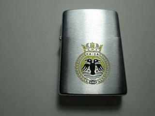 "Hmcs Haida "" Zippo "" Lighter (patented 1950) Niagara Falls Ont.  Canada"