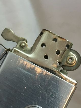 1936 4 Barrel Hinge Square Corners Slash Marks Zippo Lighter Adv SEABOARD SURETY 10