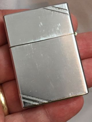 1936 4 Barrel Hinge Square Corners Slash Marks Zippo Lighter Adv SEABOARD SURETY 3