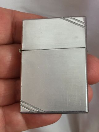 Circa 1937 Four Barrel Hinge Square Corners With Slash Marks Zippo Lighter