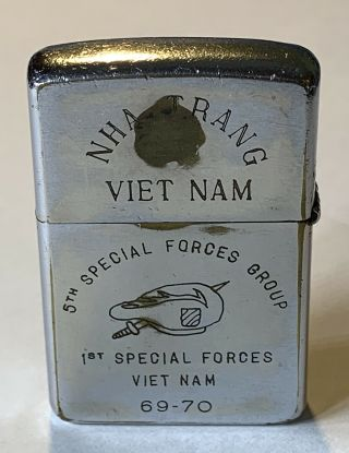 1968 Zippo 5th Special Forces Group 1st Special Forces Nha Trang Green Beret