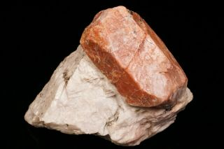 Classic Willemite Var.  Troostite Crystal On Calcite Sterling Hill,  Jersey
