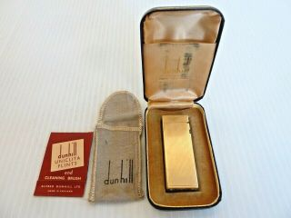 Dunhill 14k Gold Jacket Rollagas Lighter,  Pouch,  Box,  & Flint Folder