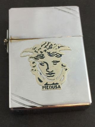 1934 - 35 Outside Hinge Zippo Lighter With Attached Medusa Metallique