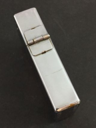 1934 - 35 OUTSIDE HINGE Zippo Lighter With Attached MEDUSA Metallique 3