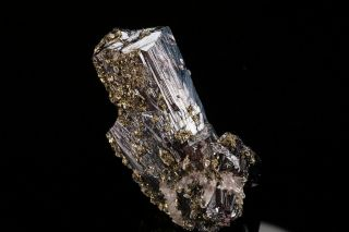 Large Pyrargyrite Crystal With Pyrite Fresnillo,  Mexico