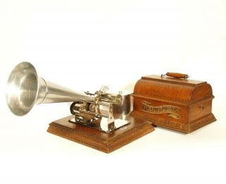 1901 Columbia Ab Grand Graphophone Cylinder Phonograph All A Beauty