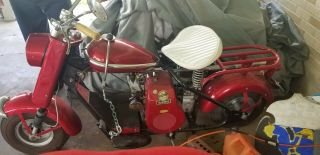 1959 Cushman Scooter Red