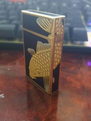 Lighter St Dupont 2 Line.  Maki - E Lacquer Is Made By Japanese Artisans