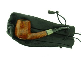POUL ILSTED HORN INSERT PANELED BIRDS EYE PIPE UNSMOKED 3