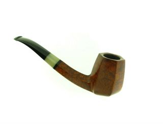 POUL ILSTED HORN INSERT PANELED BIRDS EYE PIPE UNSMOKED 8