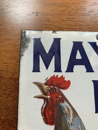 Mayo's Plug Tobacco Porcelain Sign - 1920's 3