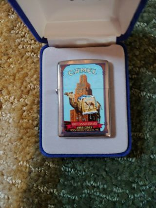 Camel Zippo Lighter 100th Anniversity Chrome Pack