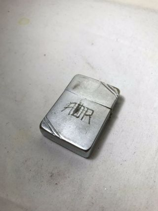 1937 - 1941 Zippo Lighter Square Slashes 4 Barrel Hinge 14 Hole Chimney 2032695