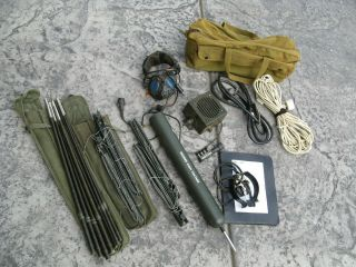 974 U.  S.  Army Collins Radio An Prc - 47 Accessory Outfit With Antenna