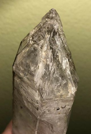 Large Skeletal Quartz Crystal From Namibia,  Dt,  Small Enhydros,  Brandberg
