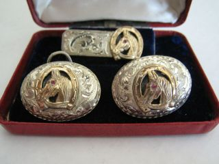 Mccabe Sterling Silver And 10k Gold Set Not Buckle