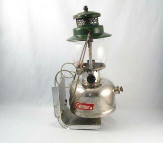 1968 Coleman Lantern Cpr Model 247 W/ Wall Bracket