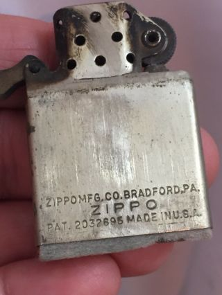 2032695 Patent TOWN & COUNTRY Zippo Lighter - FISH.  With Advertising 11