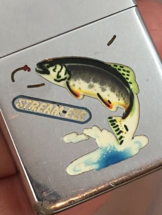 2032695 Patent TOWN & COUNTRY Zippo Lighter - FISH.  With Advertising 2