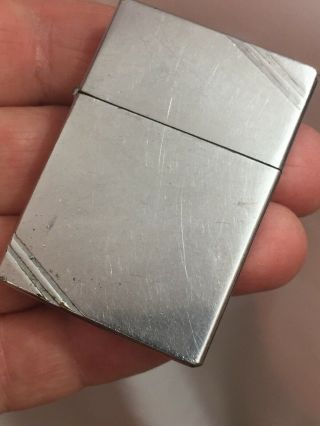 1936 - 41 Four Barrel Hinge Square Corners With Slash Marks Zippo Lighter