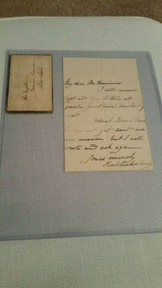 Queen Emma Signed Letter Signed With Envelope Addressed To Mr.  Dominis
