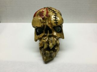 Hand Carved Skull By Norm Grabowski Shifter Knob