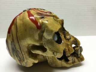 HAND CARVED SKULL BY NORM GRABOWSKI SHIFTER KNOB 2