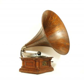 1903 Victor Ms Phonograph W/original Spear Tip Wood Horn & Stunning