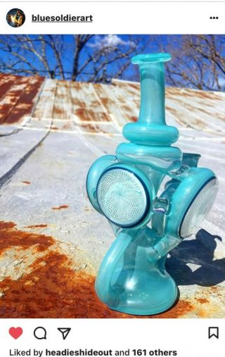 "14mm 8 "" Bluesoldierart Heady Recycler (go For 1k, ) Producers Price"