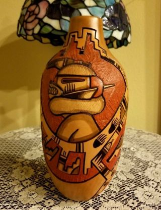 Hopi Pottery By Marty And Elvira Naha Nampeyo Signed 11 Inches Tall