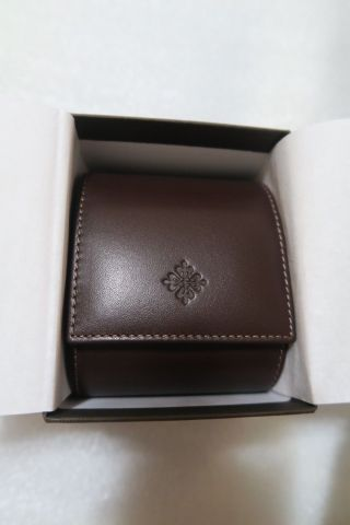 100 Authentic Patek Philippe Brown Leather Travel Case Box