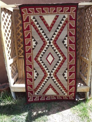 Navajo Klagetoh Rug Great Size,  Weave And Design