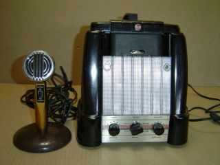 Antique Rca Mi - 12875 Magnetic Wire Recorder With Astatic Microphone