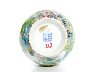A Very File Chinese Famille Rose Porcelain Vase 11