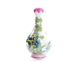 A Very File Chinese Famille Rose Porcelain Vase 5