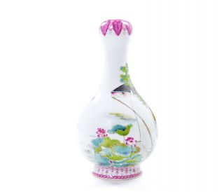 A Very File Chinese Famille Rose Porcelain Vase 6