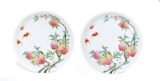 """A Chinese Famille Rose Porcelain """" Peach """" Dishes"""