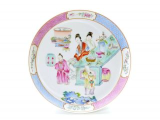A Fine Chinese Famille Rose Porcelain Dish