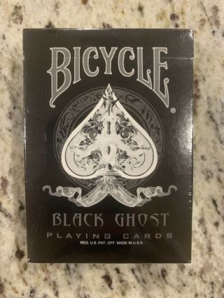 Rare Bicycle Black Ghost 1st Edition Ellusionist Playing Cards Deck