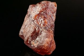 LARGE OLD Etched Spessartine Garnet Crystal PENHA DO NORTE,  BRAZIL - Ex.  Sherk 11