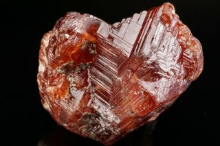 LARGE OLD Etched Spessartine Garnet Crystal PENHA DO NORTE,  BRAZIL - Ex.  Sherk 12