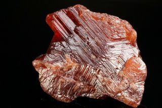 LARGE OLD Etched Spessartine Garnet Crystal PENHA DO NORTE,  BRAZIL - Ex.  Sherk 4